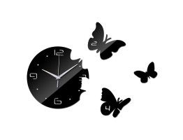DIY 3D Acrylic Wall Clock With Butterfly Sticker