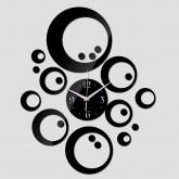 Wall Clocks: DIY 3D Acrylic Wall Clock With Wall Sticker
