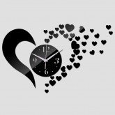 Wall Clocks DIY 3D Acrylic Wall Clock With Heart Sticker