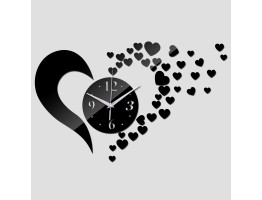 DIY 3D Acrylic Wall Clock With Heart Sticker
