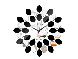 DIY 3D Acrylic Wall Clock With Double Color Sticker
