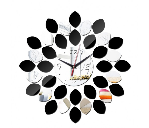 Wall Clocks DIY 3D Acrylic Wall Clock With Double Color Sticker