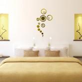 Wall Clocks: DIY Acrylic Wall Clock With Butterfly Sticker