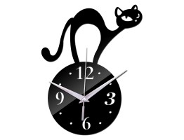 DIY 3D Acrylic Wall Clock With Cat Sticker