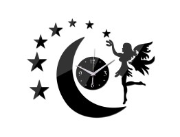 DIY 3D Acrylic Wall Clock With Star Sticker