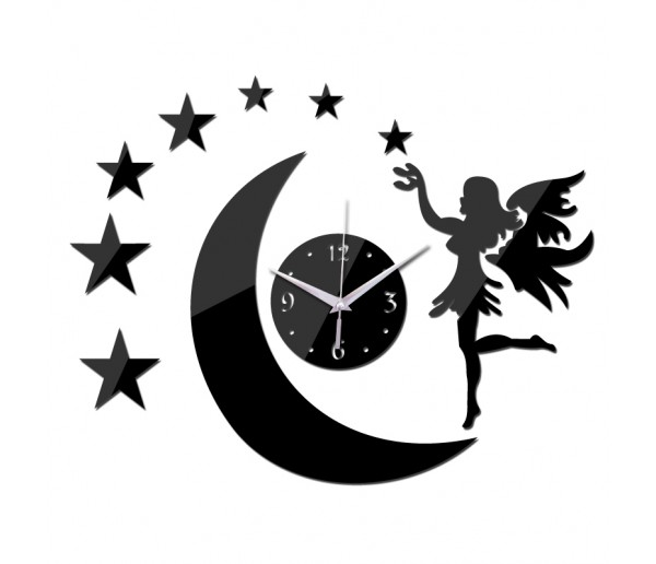 Wall Clocks DIY 3D Acrylic Wall Clock With Star Sticker