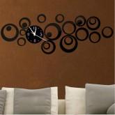 Wall Clocks: DIY 3D Acrylic Wall Clock With Sticker