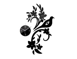 DIY 3D Acrylic Wall Clock With Decorative Sticker