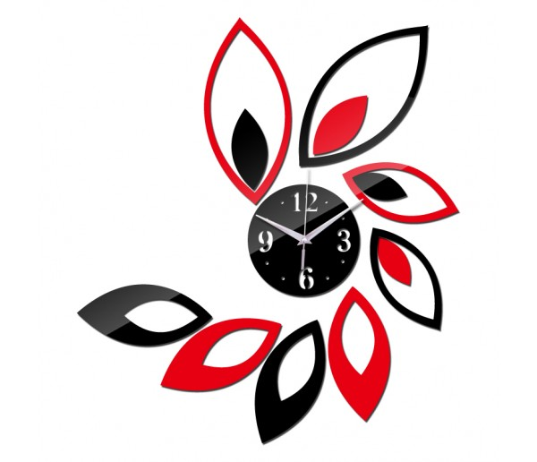 Wall Clocks: DIY 3D Acrylic Wall Clock With Sticker