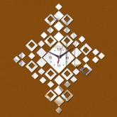 Wall Clocks DIY 3D Acrylic Wall Clock With Diamond Shape Sticker