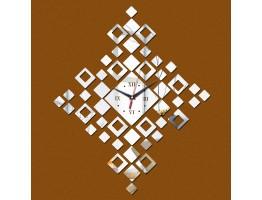 DIY 3D Acrylic Wall Clock With Diamond Shape Sticker