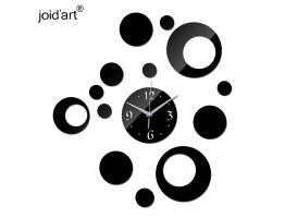 DIY 3D Acrylic Wall Clock With Circle Sticker
