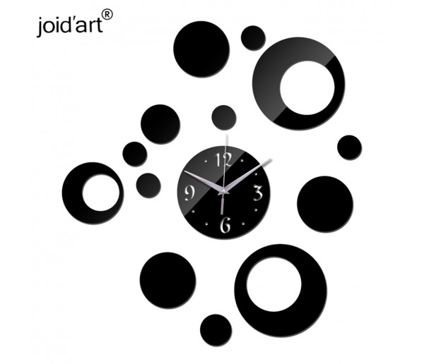 Wall Clocks DIY 3D Acrylic Wall Clock With Circle Sticker