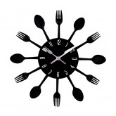 Wall Clocks: DIY 3D Stainless Steel Wall Clock With Spoon