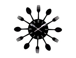 DIY 3D Stainless Steel Wall Clock With Spoon