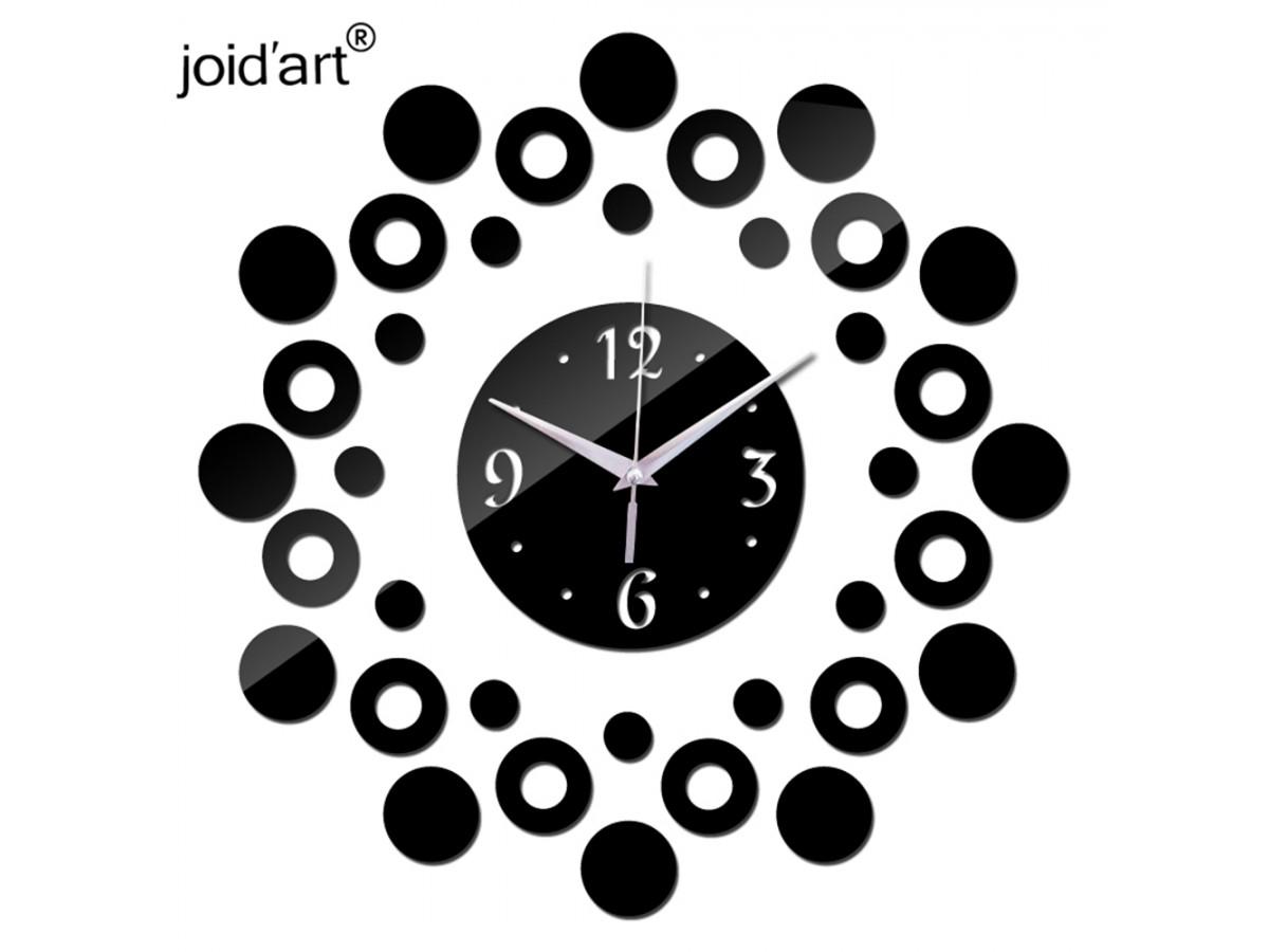 Wall Clocks : DIY 3D Acrylic Wall Clock With Circle Sticker