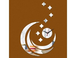 DIY 3D Acrylic Wall Clock With Moon Star Stickers