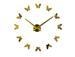 DIY Multi-Piece Set Wall Clock with Butterfly Sticker