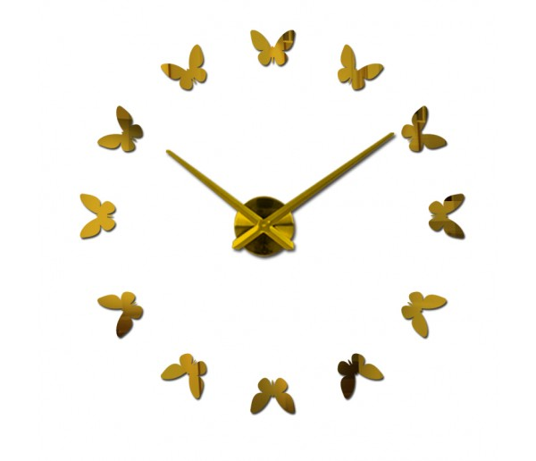Wall Clocks: DIY Multi-Piece Set Wall Clock with Butterfly Sticker