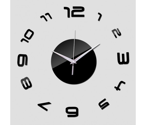 Wall Clocks DIY 3D Acrylic Wall Clock With Numbers Sticker