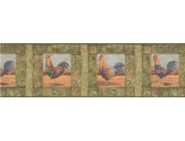 Prepasted Wallpaper Borders - Roosters Wall Paper Border WD76842LL