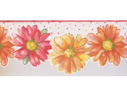 9 in x 15 ft Prepasted Wallpaper Borders - Floral Wall Paper Border 9081 WK
