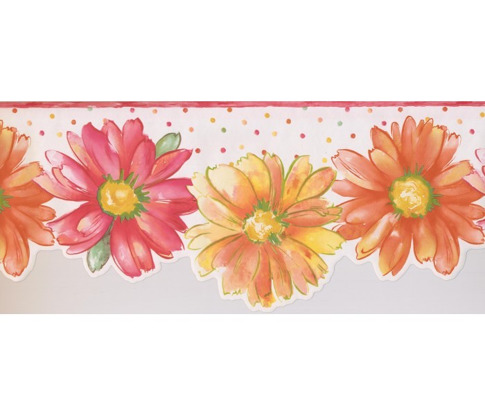 Floral Wallpaper Borders: Floral Wallpaper Border 9081 WK