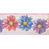 Prepasted Wallpaper Borders - Floral Wall Paper Border 9082 WK