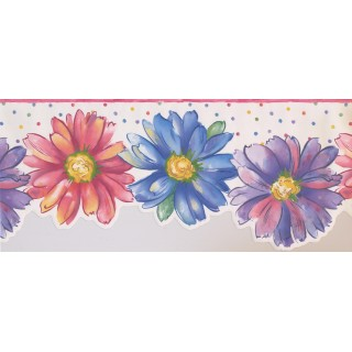 10 1/2 in x 15 ft Prepasted Wallpaper Borders - Floral Wall Paper Border 9082 WK