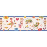 Kids Wallpaper Borders: Beach Wallpaper Border 9131 WK