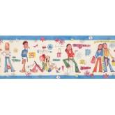 Kids Wallpaper Borders: Girls Wallpaper Border 9134 WK