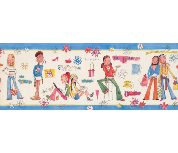 Kids Borders Girls Wallpaper Border 9134 WK York Wallcoverings