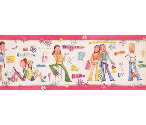 Kids Borders Girls Wallpaper Border 9136 WK York Wallcoverings