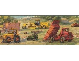 Prepasted Wallpaper Borders - Vehicles Wall Paper Border 9231 WK