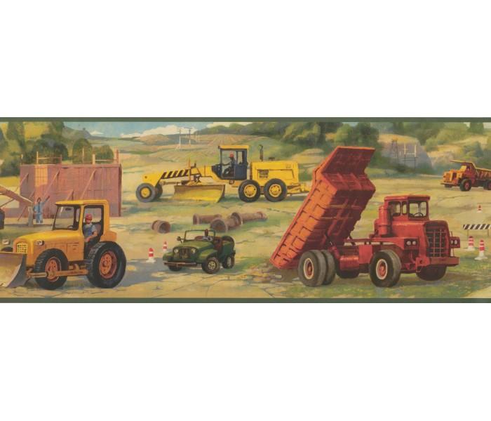 Boys Wallpaper Borders: Vehicles Wallpaper Border 9231 WK