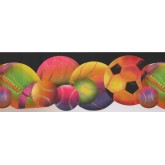 Sports Wallpaper Borders: Sorts Ball Wallpaper Border 9291 WK