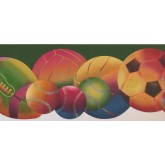 Sports Borders Sorts Ball Wallpaper Border 9292 WK York Wallcoverings