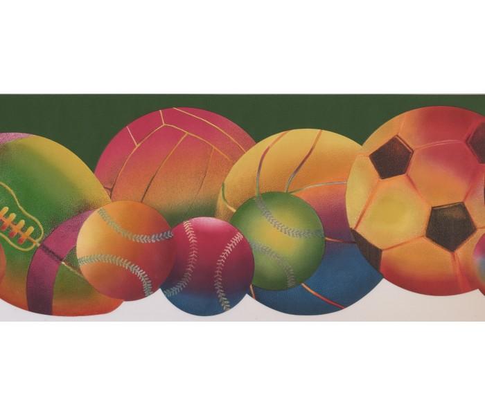 Sports Wallpaper Borders: Sorts Ball Wallpaper Border 9292 WK
