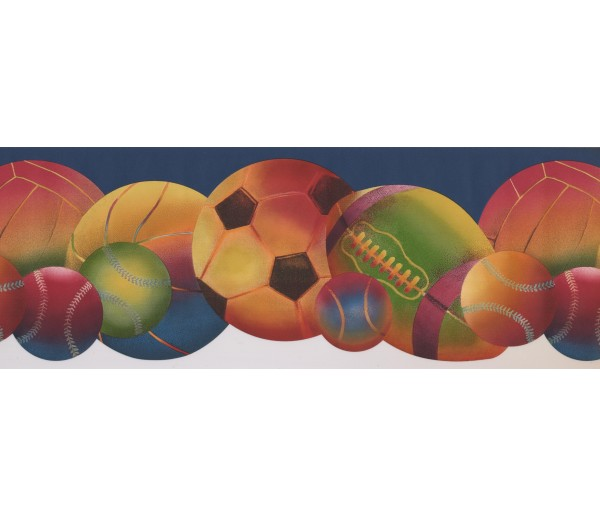 Sports Borders Sorts Ball Wallpaper Border 9293 WK York Wallcoverings