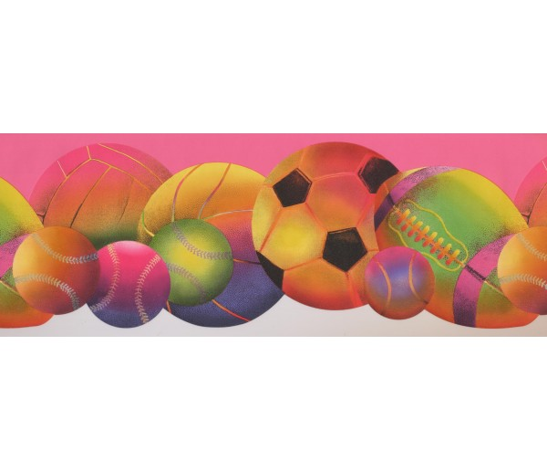Sports Wallpaper Borders: Sorts Ball Wallpaper Border 9294 WK