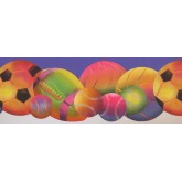 Sports Wallpaper Borders: Sorts Ball Wallpaper Border 9295 WK