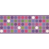 Contemporary Borders Circle Wallpaper Border 9383 WK York Wallcoverings