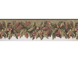 Prepasted Wallpaper Borders - Garden Wall Paper Border 5576 WL