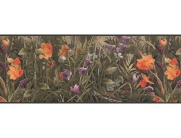 9 in x 15 ft Prepasted Wallpaper Borders - Garden Wall Paper Border 5614 WL
