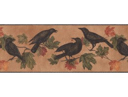 Prepasted Wallpaper Borders - Birds Wall Paper Border 5687 WL