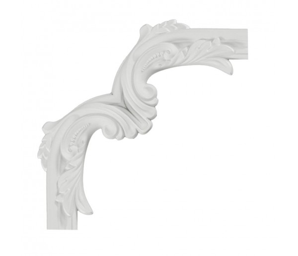 Ceiling and Wall Relief: WR-9054B Flat Molding Corner