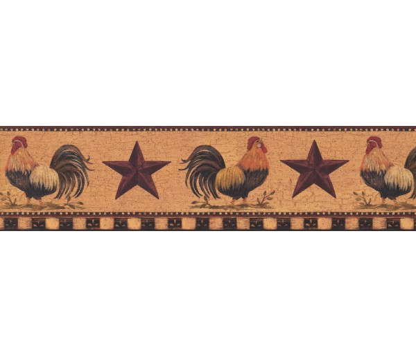 Roosters Roosters Wallpaper Border 3402 YC York Wallcoverings