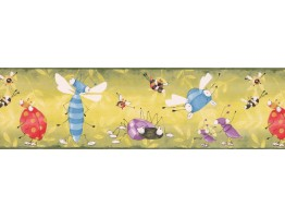 7 in x 15 ft Prepasted Wallpaper Borders - Kids Wall Paper Border YL10121