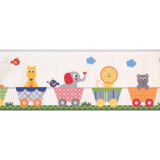 9 in x 15 ft Prepasted Wallpaper Borders - Kids Wall Paper Border 9147 YS