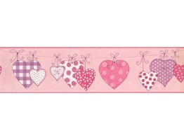 Prepasted Wallpaper Borders - Hearts Wall Paper Border 9159 YS